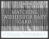 Matching Baby Shower Wishes For Baby Card