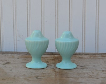 Turquoise Franciscan Coronado Salt and Pepper Shakers - Royal Hill Vintage