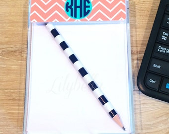 Personalized Acrylic Notepad - Personalized Notepad - Acrylic Notepad - Notepad Holder - Monogrammed Notepad - Personalized Desk Accessories