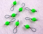 Neon Green Knitting Stitch Markers - US 5 - Item No. 980