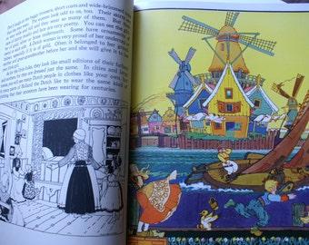 Vintage Little Folks  of Other Lands, Lavish Illustrated book