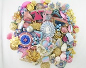 Craft Jewelry - Over 1 Pound - Multiple Projects - Pink and Blue Romance