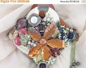 Half Off Sale Hand Mirror - Copper Bloom - Repurposed Jewelry - M000834