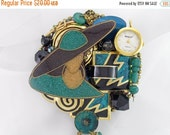 Half Off Sale Hand Mirror - Glamour Time - Repurposed Jewelry - M000667