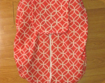 Coral fleece infant car seat cover
