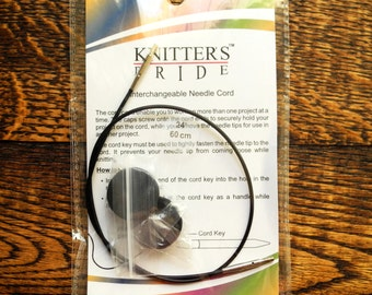 "32"" Knitter's Pride Interchangable Cord for Karbonz, Platina, Cubics, Royale, Dreamz"