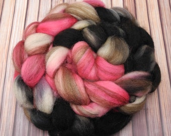 Mixed BFL Hand Dyed Roving Spinning Fiber -- Paris At Last -- IN STOCK