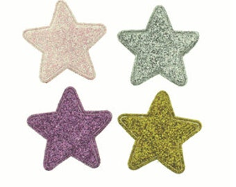 Glitter Star Applique - 20 pcs