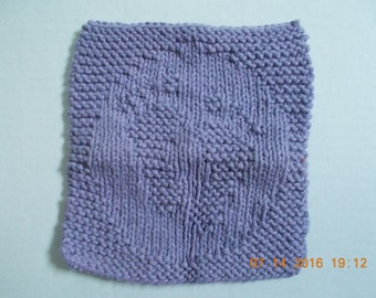 Knit Washcloth For Baby