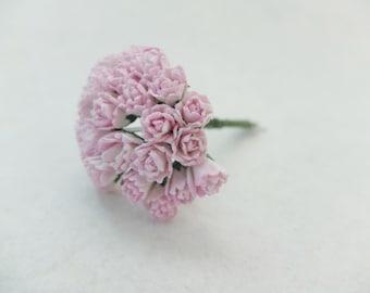 25 10mm pink paper flower buds - budding flowers - blooming flowers - paper flowers
