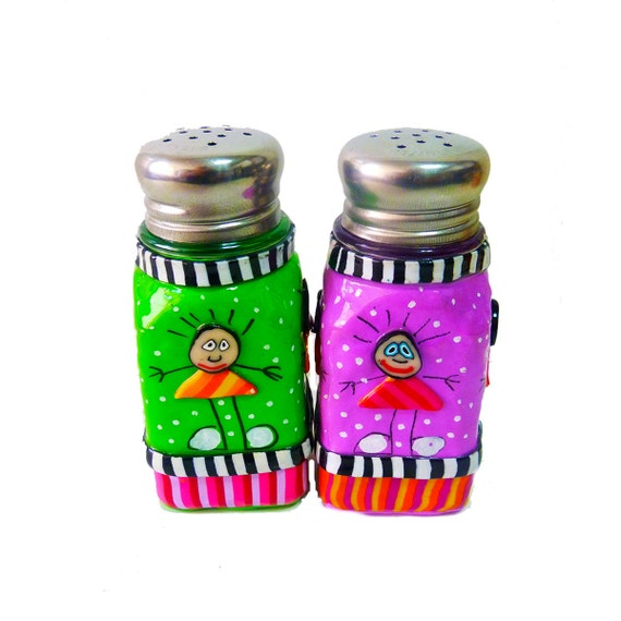 Salt and pepper shakersmodern salt and pepper by mirakris Colorful salt and pepper shakers
