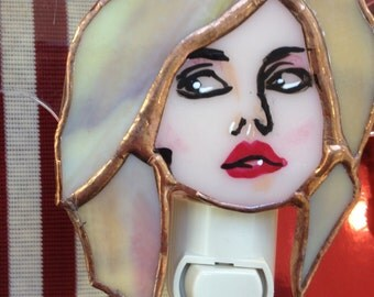 Debbie Harry Blondie tribute Night Light by Glass Action