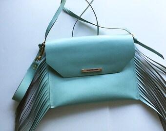 Sample sale - leather Fringe bag