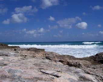 El Caribe Mexicano. A Mexican Caribbean Beach.