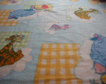 MadieBs Winnie the Pooh and Friends Colorful Fleece Blanket for Baby or Nursery New