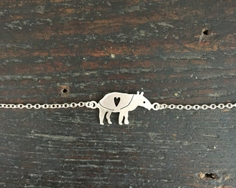 sterling silver tapir bracelet for Nancy