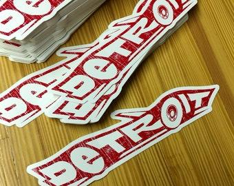 Detroit - roadster sticker