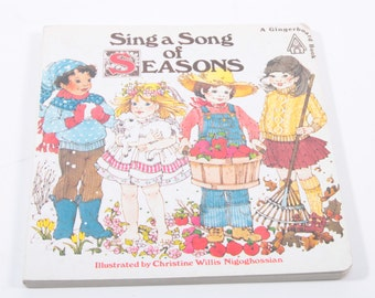 Sing a Song of Seasons - Vintage Children's Board Book