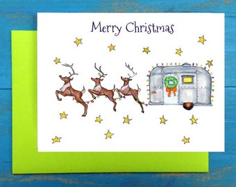 Merry Christmas trailer greeting card