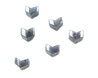 Iolite Chevron Beads (10X) (NS806)