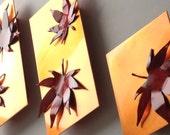 Copper Japanese Maple Leaves, Set of 3