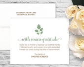 Ivy Branch Sympathy Flat Card with Printed Envelope - White
