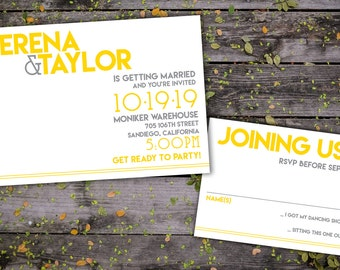 Modern Celebrations Wedding Invitation