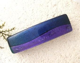 Purple Barrette, Hair Barrette, French Barrette, Fused Glass Barrette, Medium Dichroic Barrette, Fused Glass Jewelry, 70mm , 060316ba105