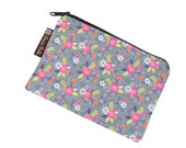 Catch All Bag holds chargers - cords - make up - collections - hard drives - FAST SHIPPING - Dutch Floral Fabric