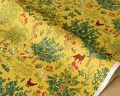 Japanese Fabric - Fox Forest - yellow - 50cm