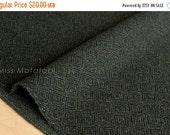 Japanese Fabric Wool Melton diamond - dark, forest green - 50cm