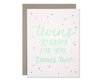 Twins Letterpress Card
