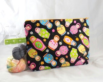 Russian Nesting Dolls zippy bag by AnniePurl