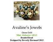 Avaline's Jewels Beaded Bead Kit-Green Gold with Mint Alabaster ABX2 Crystals