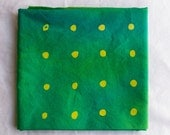 Wasabi Peas Hand Dyed and Patterned Cotton Fabric/ Chartreuse and Grass