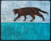 Orange Cat Tortie Cat Art Print