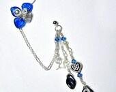 ON SALE Celtic Blue Fairy Bajoran Chain Ear Cuff Gift for Her, Stocking Stuffer