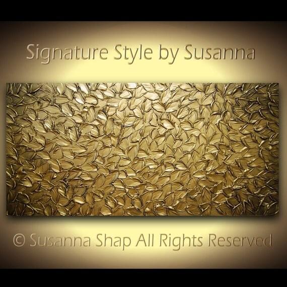 Bronze Gold Abstract Painting Texture Large Original Modern Art Metallic Oil Wall Art Minimalist Mixed Media MADE2ORDER ~Susanna