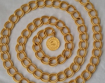Gorgeous Georgiou Extra Long Double Loop Chain Belt or Necklace