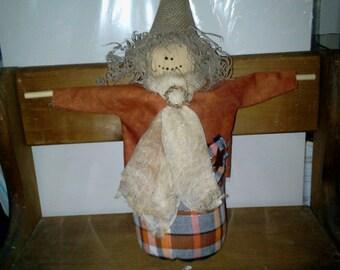 Skipper Scarecrow Handmade Autumn Halloween Fabric Doll