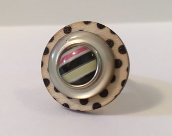 Polk My Dots - Stacked Button Ring