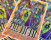 Fall Out Boy Pete Wentz Patrick Stump VIP Gigposter Skulls Boys of Zummer USA Tour Poster Rare