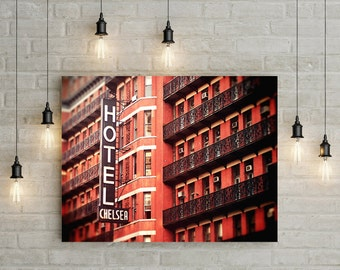 Chelsea Hotel Photo // New York City Photo // Large Wall Art Print // Large Art // Fine Art Travel Photography