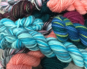 Random Set of 5 Sock Yarn Mini Skeins