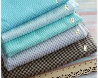 Half Yards 5 colors to choose Gingham Cotton Fabric
