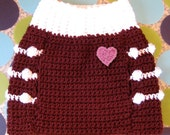 Dog Sweater Vest - Cranberry Kisses - Size M - Ready to Ship Today