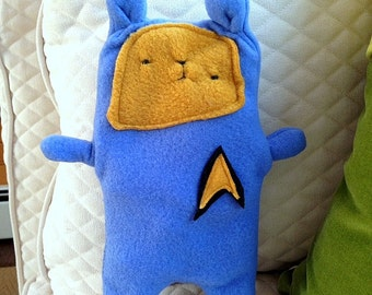 Spock ~ The Star Trek Bear Bummlie ~ Stuffing Free Dog Toy ~ Ready To Ship Today