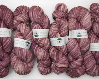 Superwash Merino Wool Sock Yarn in Golden Raspberry by Blarney Yarn