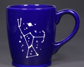Orion Constellation Astronomy Mug - Navy Blue - microwave/dishwasher safe coffee cup