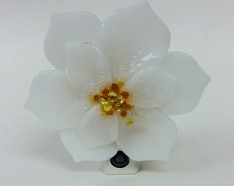 Fused Glass Night Light (Magnolia)
